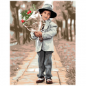 "Канва с рисунком ""Цветы для тебя"" 37х47,5см ""Royal Paris"""