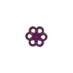 """Пуговицы """"Цветок"""" фиолетовые 15мм 12шт. """"Gamma"""""""