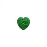 """Пуговицы """"Сердце с орнаментом"""" зеленые 11мм 12шт. """"Gamma"""""""