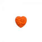 """Пуговицы """"Сердце с орнаментом"""" оранжевые 11мм 12шт. """"Gamma"""""""
