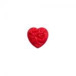 """Пуговицы """"Сердце с орнаментом"""" красные 11мм 12шт. """"Gamma"""""""