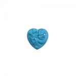 """Пуговицы """"Сердце с орнаментом"""" голубые 11мм 12шт. """"Gamma"""""""