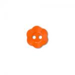 """Пуговицы """"Цветок"""" оранжевые 11мм 12шт. """"Gamma"""""""