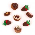 """Пуговицы """"Шоколадный десерт"""" 8шт. """"Jesse James"""" (США)"""