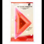 """Шаблоны для квилтинга Треугольники 9шт. """"Hemline"""""""