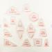 """Набор лекал для заготовок для пэчворка 14 дизайнов """"Hemline"""""""