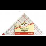 """Линейка-треугольник с углом 90 градусов 4,5 х 5 дюймов """"Hemline"""""""
