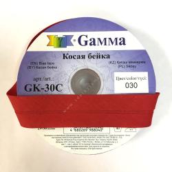 "Косая бейка х/б 40мм цв. 030 алый ""Gamma"""