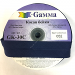 "Косая бейка х/б 30мм цв. 052 синий ""Gamma"""
