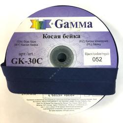 "Косая бейка х/б 40мм цв. 052 синий ""Gamma"""