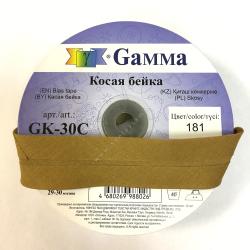 "Косая бейка х/б 40мм цв. 181 коричневый ""Gamma"""
