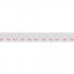 "Лента декоративная атласная 12мм с принтом ""Me to you"" L02 3 метра ""Gamma"""