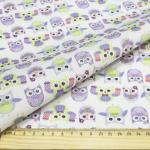 """Ткань для пэчворк (48x50см) AM626001 из коллекции """"Совушки и птички"""" """"ArtMix"""""""