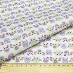 """Ткань для пэчворк (48x50см) AM626002 из коллекции """"Совушки и птички"""" """"ArtMix"""""""