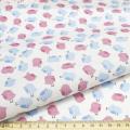"""Ткань для пэчворк (48x50см) AM626011 из коллекции """"Совушки и птички"""" """"ArtMix"""""""
