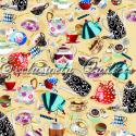 """Ткань из коллекции """"Чай вдвоём"""" 60654-90 """"Classic Cottons""""(США)"""