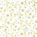 """Ткань из коллекции """"Дикие цветы"""" 45583-Yellow """"Classic Cottons""""(США)"""