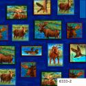 """Ткань панно из коллекции """"Охота"""" 8333-2 """"Classic Cottons""""(США)"""