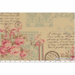 """Ткань для пэчворк (60x110см) 31020-10 из коллекции """"Antique rose"""" """"Lecien"""" (Япония)"""