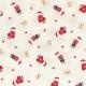 "Ткань для пэчворк (50x55см) 31114-10 из коллекции ""Yuletime"" ""Lecien"" (Япония)"