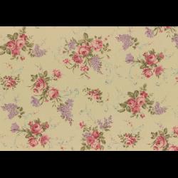 """Ткань для пэчворк (50x55см) 31149-10 из коллекции """"Antique rose"""" """"Lecien"""" (Япония)"""