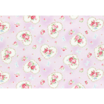 """Ткань для пэчворк (50x55см) 31266-110 из коллекции """"Princess Rose"""" """"Lecien"""" (Япония)"""