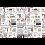 """Ткань для пэчворк (60x110см) 40538-10 из коллекции """"Little Heroines"""" """"Lecien"""" (Япония)"""