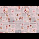 """Ткань для пэчворк (60x110см) 40538-20 из коллекции """"Little Heroines"""" """"Lecien"""" (Япония)"""