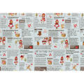 """Ткань для пэчворк (60x110см) 40538-70 из коллекции """"Little Heroines"""" """"Lecien"""" (Япония)"""