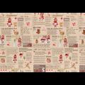 """Ткань для пэчворк (60x110см) 40538-80 из коллекции """"Little Heroines"""" """"Lecien"""" (Япония)"""