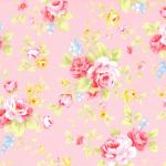 """Ткань для пэчворк (50x55см) 31420-20 из коллекции """"Antique Flower"""" """"Lecien"""" (Япония)"""