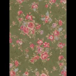 """Ткань для пэчворк (50x55см) 31478-60 из коллекции """"Antique rose"""" """"Lecien"""" (Япония)"""