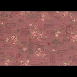 """Ткань для пэчворк (50x55см) 31479-20 из коллекции """"Antique rose"""" """"Lecien"""" (Япония)"""