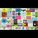 """Ткань для пэчворк (60x110см) 31230-20 из коллекции """"First of infinity"""" """"Lecien"""" (Япония)"""