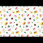 """Ткань для пэчворк (50x55см) 40902-10 из коллекции """"Food land"""" """"Lecien"""" (Япония)"""