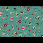 """Ткань для пэчворк (50x55см) 40906-70 из коллекции """"Food land"""" """"Lecien"""" (Япония)"""
