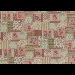 """Ткань для пэчворк (50x55см) 31455-10 из коллекции """"Little Heroines"""" """"Lecien"""" (Япония)"""