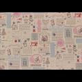 """Ткань для пэчворк (50x55см) 31457-20 из коллекции """"Little Heroines"""" """"Lecien"""" (Япония)"""