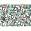 """Ткань для пэчворк (50x55см) 31713-70 из коллекции """"Moji Palette"""" """"Lecien"""" (Япония)"""