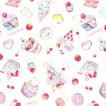 """Ткань для пэчворк (50x55см) 40702-10 из коллекции """"Nico Nico Land"""" """"Lecien"""" (Япония)"""