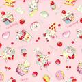 """Ткань для пэчворк (100x110см) 40702-20 из коллекции """"Nico Nico Land"""" """"Lecien"""" (Япония)"""