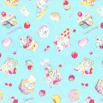 """Ткань для пэчворк (50x55см) 40702-70 из коллекции """"Nico Nico Land"""" """"Lecien"""" (Япония)"""
