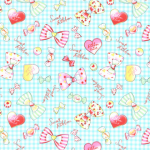 """Ткань для пэчворк (100x110см) 40703-70 из коллекции """"Nico Nico Land"""" """"Lecien"""" (Япония)"""