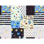 """Ткань для пэчворк (100x110см) 40731-10 из коллекции """"Nico Nico Land"""" """"Lecien"""" (Япония)"""