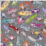 """Ткань для пэчворк (60x110см) 691-830 """"Loralie Designs"""" (США)"""