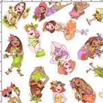 """Ткань для пэчворк (50x55см) 691-844 """"Loralie Designs"""" (США)"""