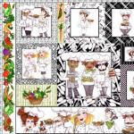 """Ткань для пэчворк (60x110см) 691-880 """"Loralie Designs"""" (США)"""