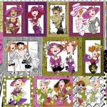 """Ткань для пэчворк (60x110см) 691-924 """"Loralie Designs"""" (США)"""