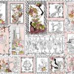 """Ткань для пэчворк (60x110см) 691-937 """"Loralie Designs"""" (США)"""