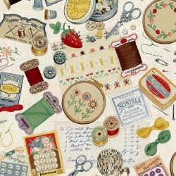 "Ткань для пэчворк 1698-1 из коллекции ""Haberdashery"" ""Makower UK"""